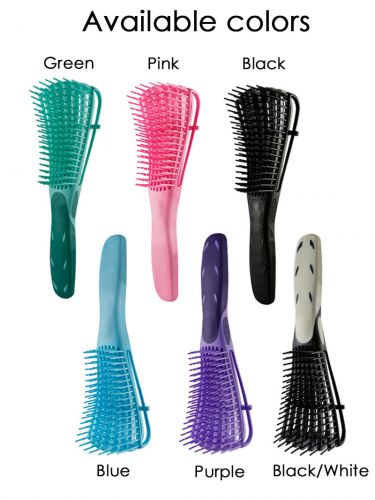 Detangling Brush for Wet Hair Curly Hair Kinky Wavy Hair Coily Hair BR017