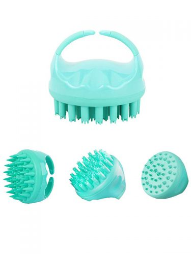Scalp Massager Silicone Shampoo Hair Brush Shower Scrubber with 4 Different Brush Heads BR050