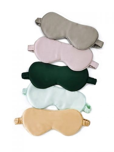 Silk Sleep Mask Eye Mask Blindfold with Double Layer Silk Filling and Elastic Strap SK001