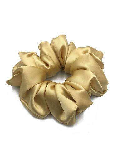 Silk Scrunchies For Women Soft Hair Care Charmeuse Scrunchy Ropes Hair Bands SK002