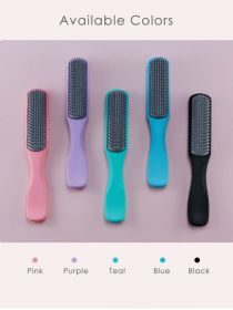 9 Row Hair Brush 3 in 1 Hair Brush Styling Comb with Nylon Bristle Detangling Brush BR055