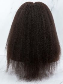 KINKY STRAIGHT VIRGIN HAIR LACE FRONT WIG AYKS