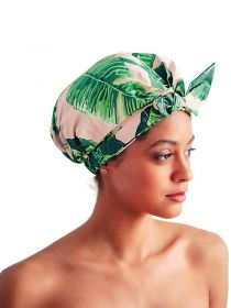 Shower Cap for Women Waterproof Reusable Shower Cap for Long Hair Large Turban BN007