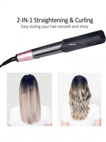 Professional Hair Straightener Curling Iron 2in1 Tourmaline Ceramic Twisted Flat Iron BR004