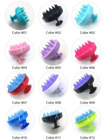 Silicone Hair Scalp Massager Shampoo Brush Head Scrubber Dandruff Brush BR008