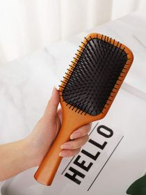 Wood Detangling Brushes Natural Detangler Paddle Hairbrush for Women Men Kids BR009