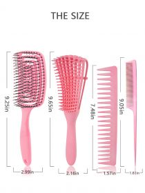 4PCS Detangling Brush and Hair Comb Set for Men and Women BR012