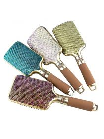 Rhinestone Crystal Hair Brush Bling Air Cushion Paddle Hair Brush BR044