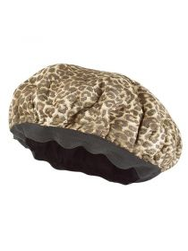 Leopard Print Deep Conditioning Flaxseed Microwavable Heat Cap for Steaming Hair Styling and Treatment CA003