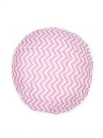 Pink Chevron Strip Deep Conditioning Flaxseed Microwavable Heat Cap for Steaming Hair Styling and Treatment CA016