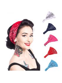 Paisley Bandana Headband with Elastic Yoga Headband Cotton Hair Accessories FHB001