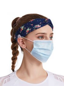 Elastic Headbands for Women Headbands with Buttons for Face Mask Criss Cross Turbans FHB013