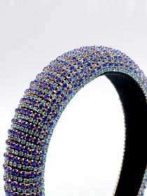 Rhinestone Crystal Diamond Headband for Women Fashion Handmade Wide Hair Hoops FHB024