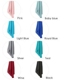 Satin Silk Large Square Plain Head Neck Scarf Wrap SC004