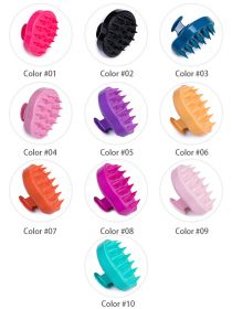 Hair Scalp Massager Soft Silicone Shampoo Brush Hair Scrubber Head Massager Brush BR053