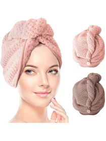 Hair Towel Wrap Microfiber Quick Hair Drying Towel Super Absorbent Drying Hair Caps HT001