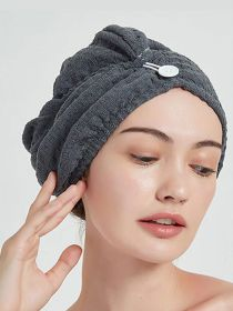 Microfiber Hair Towel Wrap Super Absorbent Hair Drying Turban Towel HT002