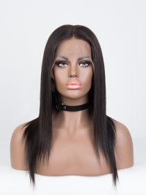 SILKY STRAIGHT SHORT HAIR LACE FRONT WIG AYSS