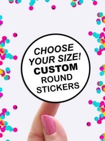 Custom Round Sheet Label Stickers Wholesale PAL001