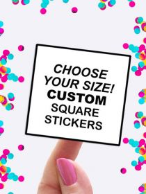 Custom Square Sheet Label Stickers Wholesale PAL002