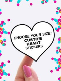 Custom Heart Shape Sheet Label Stickers Wholesale PAL003