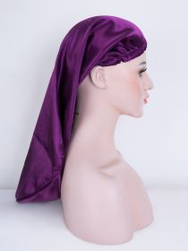 Satin Sleep Cap for Long Hair Extra Long Bonnets for Braids Hair With Adjustment Drawstring BN008