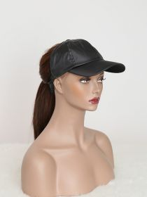 Satin Backless Ponytail Hat Baseball Women Messy Bun Pony Tail Cap SC003