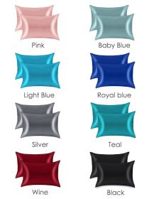 Luxury Silky Satin Pillowcases for Hair and Skin Envelope Closure SP001