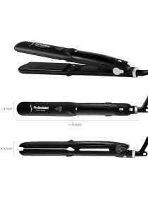 Steam Hair Straightener Salon Grade Ceramic Flat Iron with Anti-Static Technology and Digital Controls EBR002